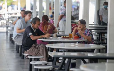 PERAK 21-05-2020.Stalls at the Medan Selera Stadium Ipoh have allowed customer to dine-in with the strict standard operating procedure being followed after the Perak government yesterday give green light for customer to dine-in at all restaurants across the stateMALAY MAIL/Farhan Najib